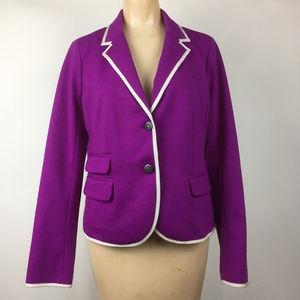 Gap The Academy Blazer Purple Jacket